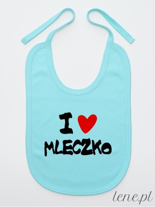 Śliniak niemowlęcy  I Love Mleczko