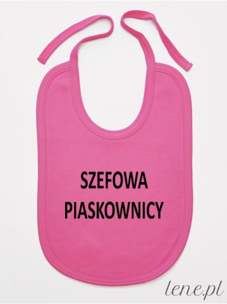 Szefowa Piaskownicy - śliniak