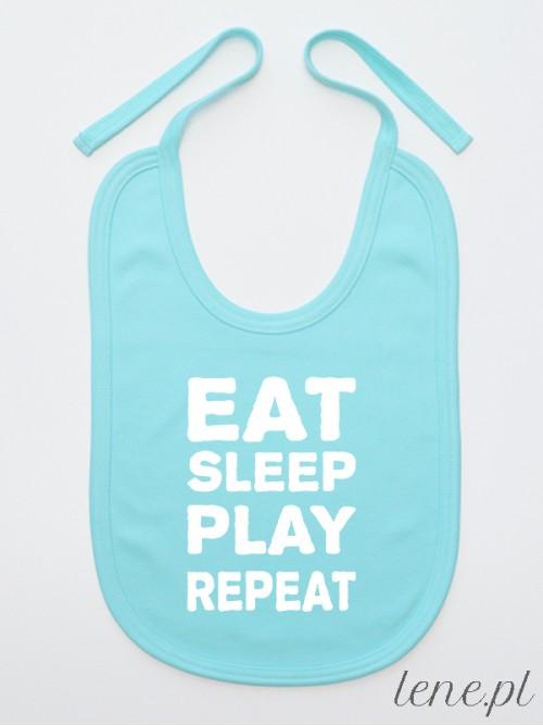 Śliniak niemowlęcy Eat Sleep Play Repeat