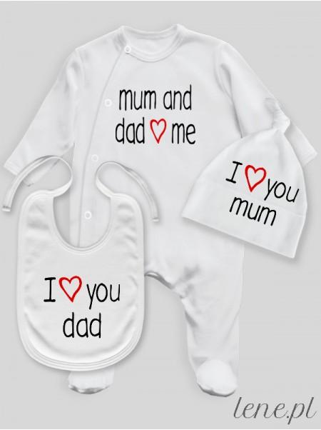 Love Mum And Dad  - komplet niemowlęcy