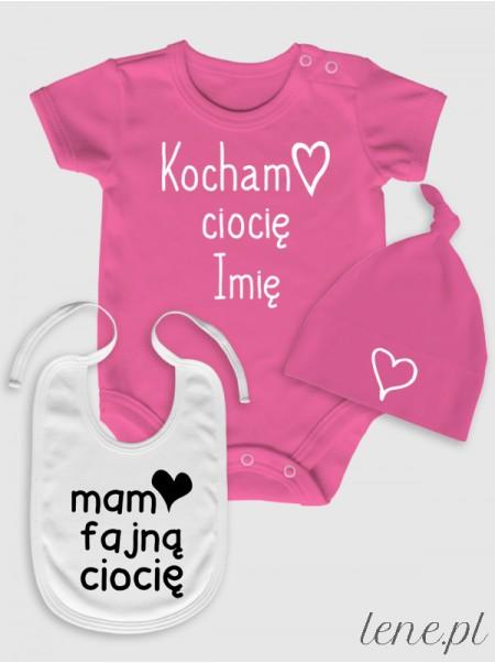 Fajna Ciocia 02 + Imię - komplet niemowlęcy
