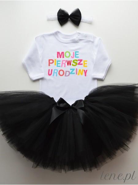 Moje Pierwsze Urodziny Kolorowe - Komplet Spódniczka Tutu I Body