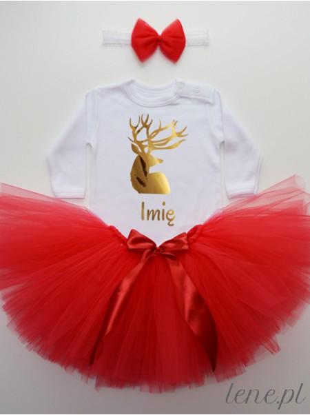 Jeleń Złoty + Imię - Komplet Spódniczka Tutu I Body