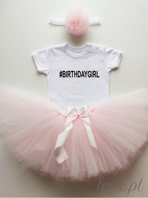 Komplecik Spódniczka Tutu I Body -   #BirthdayGirl